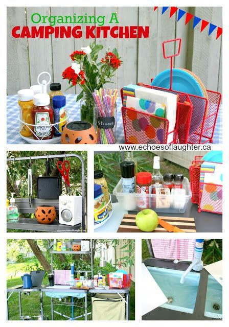 Easy Steps On Organizing A Camping Kitchen! Forget big totes that are hard to move around and organize. Use these organizing ideas for easier packing and meal-making!