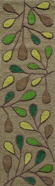 "Dunes Hand-Tufted Rug, Green, 2'3""x8' Runner midcentury-hall-and-stair-runners"