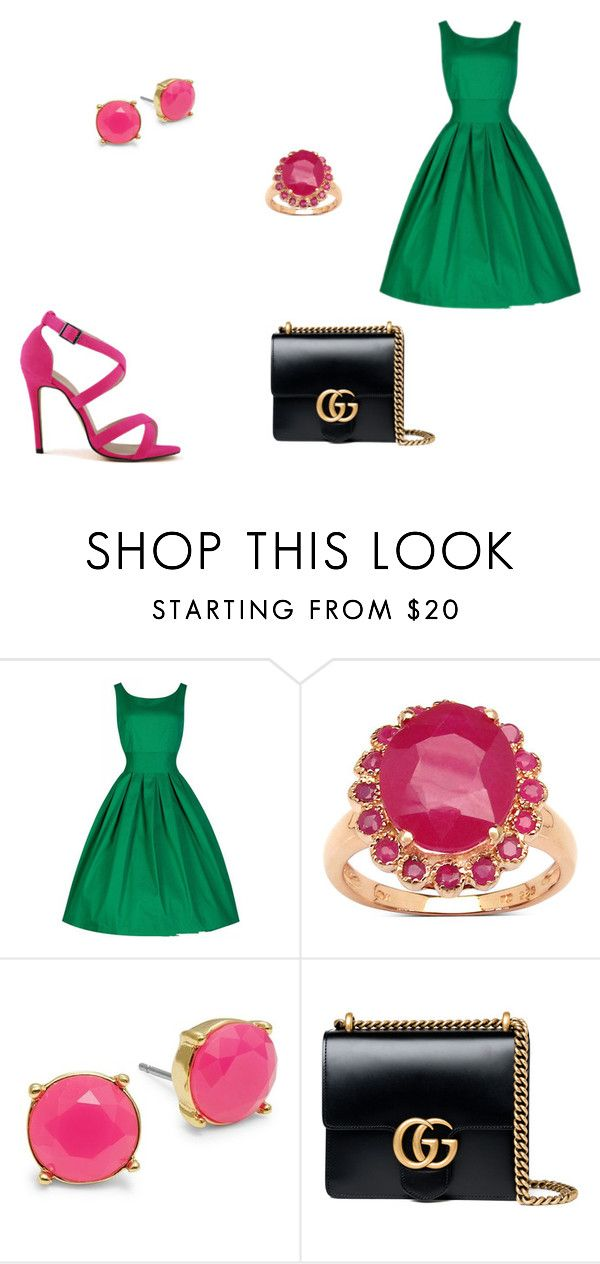 """Untitled #2"" by zuzia-apanasewicz on Polyvore featuring Malaika, Trina Turk and Gucci"
