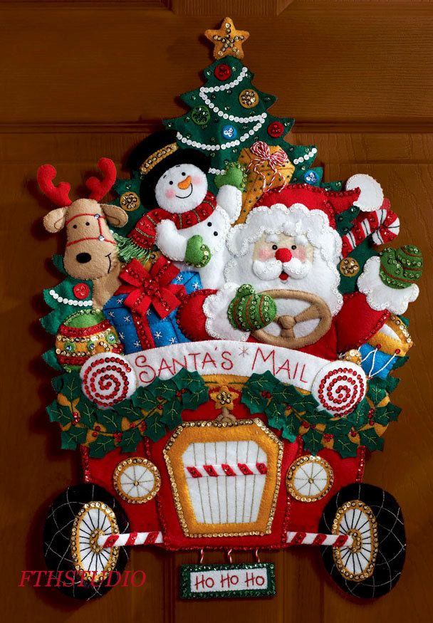 Bucilla Santa's Christmas Mail Truck Felt Wall Hanging Kit