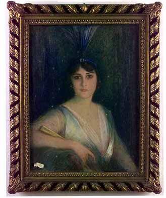 Retrato de Victoria Ocampo. Artista: Dagnan Bouveret. Fecha: 1919.