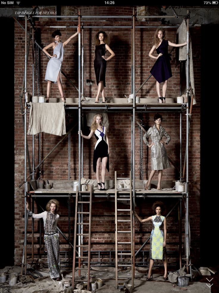 Scaffolding and fashion…what a great pair