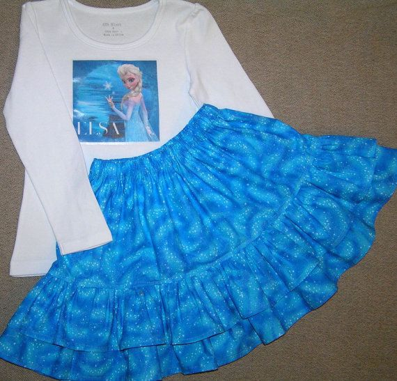 Frozen Elsa outfit  girls back to school outfit by GirlsGoneGirlie, $39.95