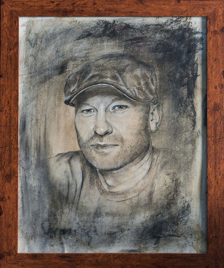 https://flic.kr/p/QB6WRy | self portrait | Drawing by charcoal + white pastel ( and coffee in the background :) )  51 x 41 cm