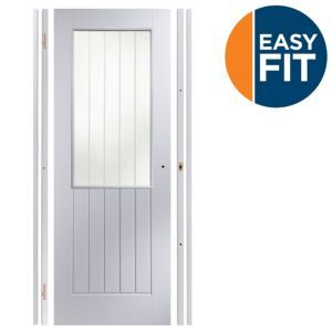Easy Fit Panelled Pre-Painted Glazed Internal Easy Fit Panelled Pre-Painted Glazed Internal Door Kit For Opening Sizes (W)759-771mm (H)1988-1996mm (D)35mm.The Easy Fit door set is a door and frame already cut and routered for hinges and latch ens http://www.MightGet.com/january-2017-13/easy-fit-panelled-pre-painted-glazed-internal.asp