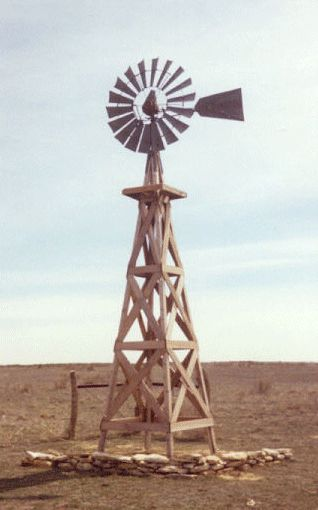 Cimarron, Kansas   This is weird........it looks like the windmill on my driveway........
