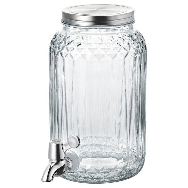 Glass Beverage Dispenser Clear, Glass Beverage Dispenser Ikea