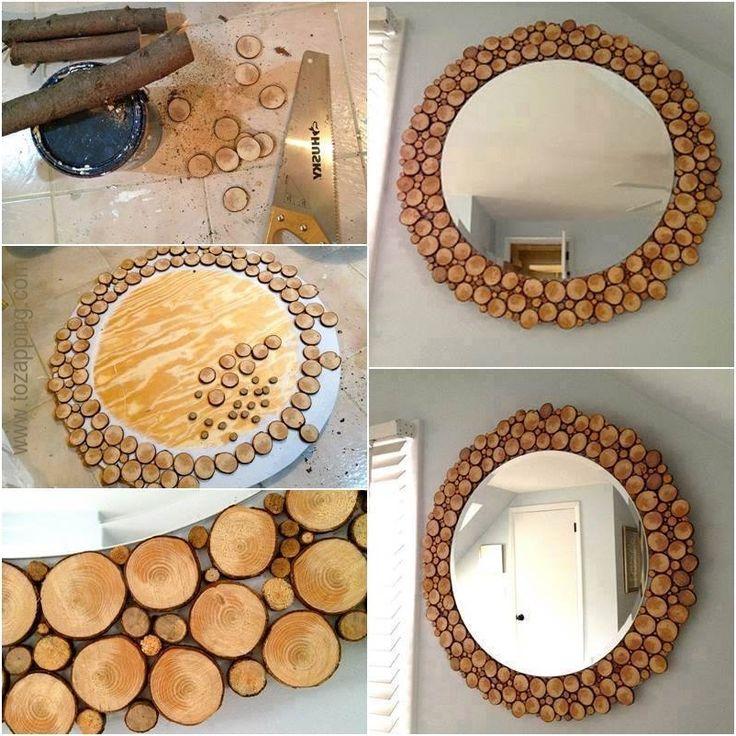 1000 ideas sobre espejos r sticos en pinterest - Hacer marco espejo ...