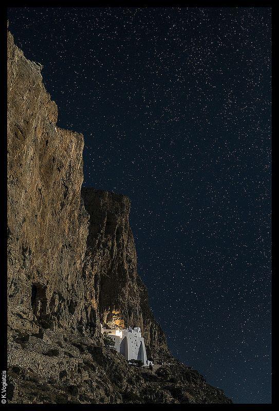 Hozoviotissa monastery, Amorgos island, Greece, photo by Konstantinos Vogiatzis