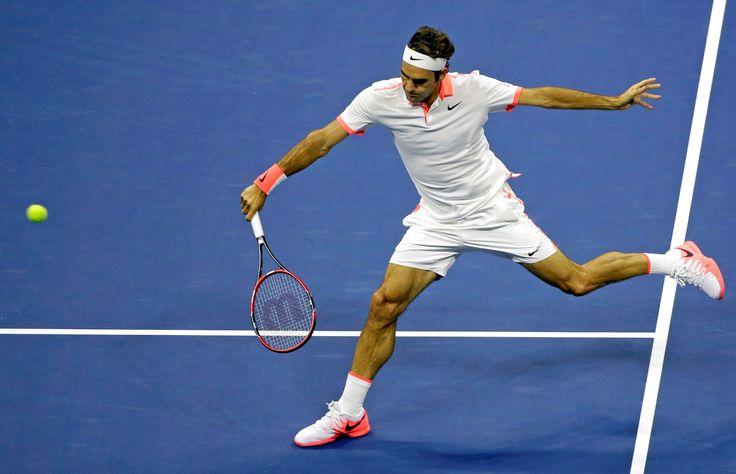 2015 US Open, quaterfinal match, Roger Federer vs Richard Gasquet - Federer won and advance to the semifinals.