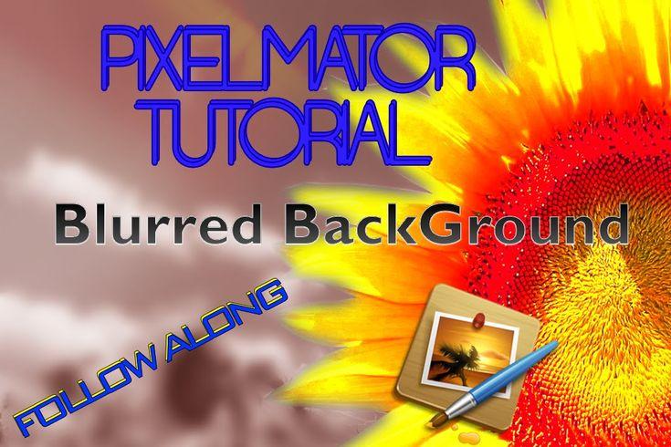Pixelmator Tutorial - How to Blur a Background