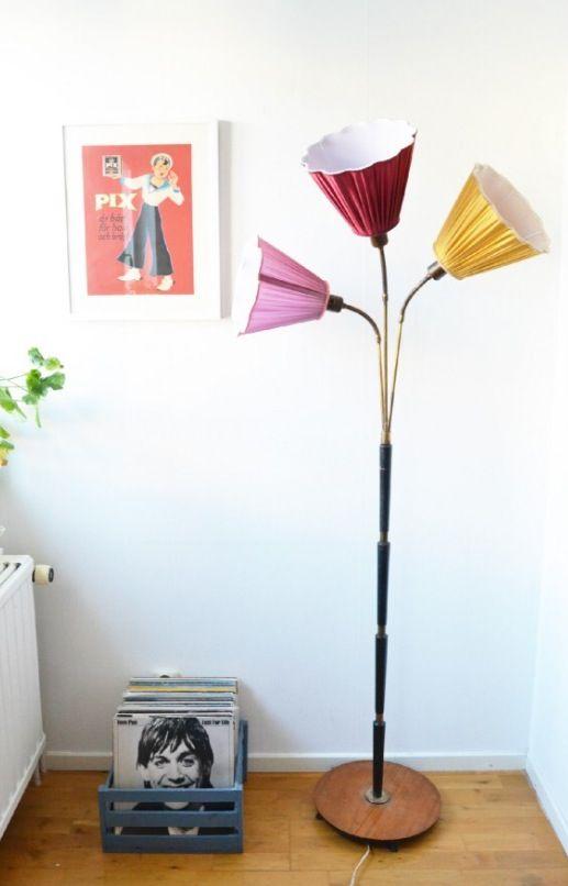 Trearmad lampa 50-tal
