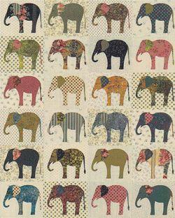 ELEPHANTS QUILT PATTERN