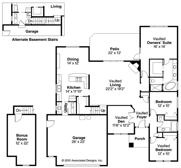 21 best 3 Bedroom House Plans images on Pinterest Plan plan - 3 bedroom house plans