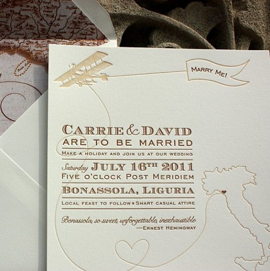 vintage-inspired invitations for a destination wedding in italy