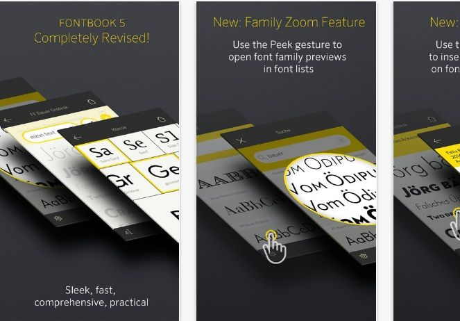 FontBook App  #ios #android