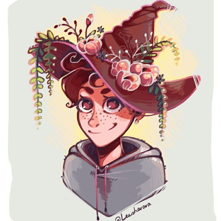 Been digging witches lately, so here's a cute one with a hat    #witch #witchaesthetic #naturewitch #freckles #digitalpainting #hipstershit #androgynous