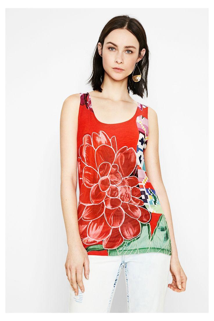 レディース用赤のTシャツ - Arkansas   Desigual.com