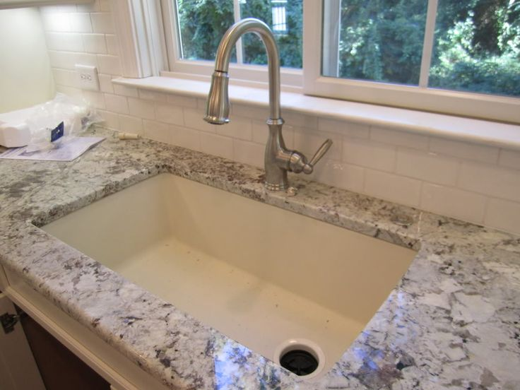 White Silgranit Sink : Sink- Blanco Silgranit in Biscuit with Offset drain Diamond Single ...