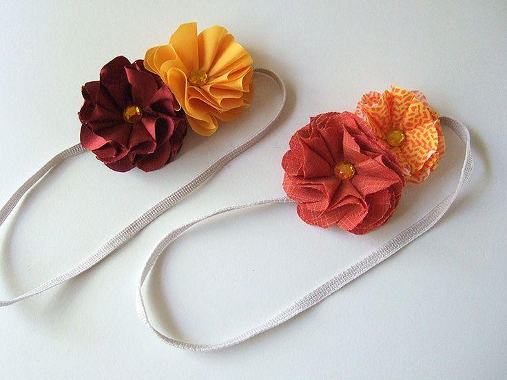 fabric flower headband tutorial from #craftnest :)
