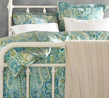 Rosalie Paisley Duvet Cover Sham Blue Potterybarn For