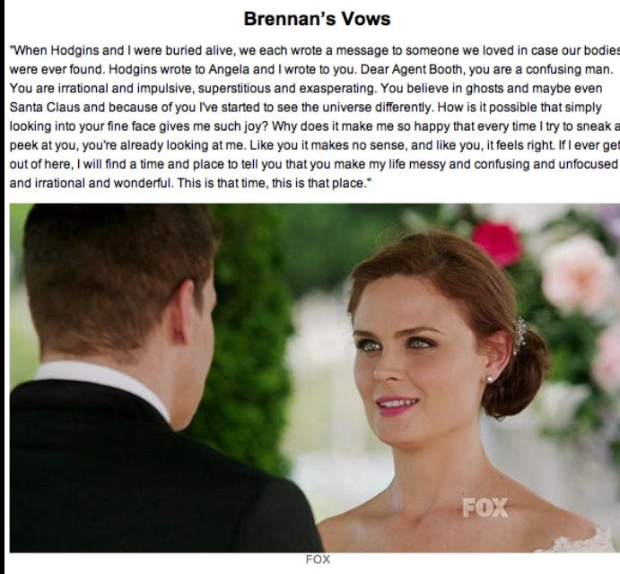Brennan's vows~this is beautiful