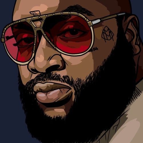 dope art, digital art, and rick ross image