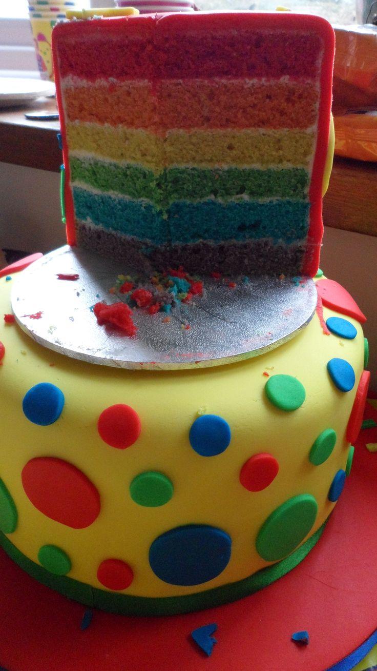 Mr Tumble Rainbow Cake