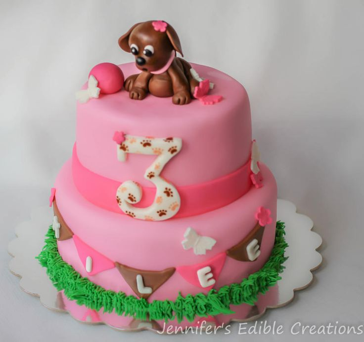 Puppy Dog Birthday Cake Cake by Jennifers Edible Creations