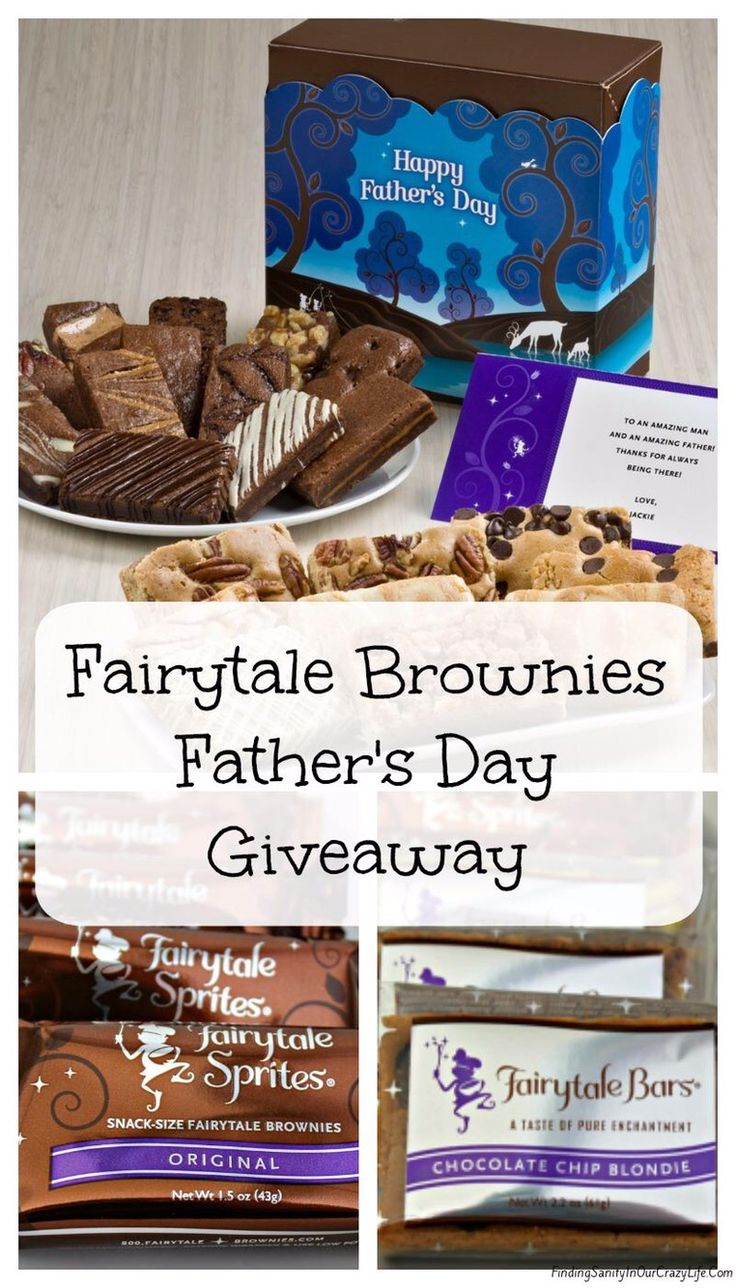 GIVEAWAY ALERT! Fairytale Brownies Father's Day Giveaway