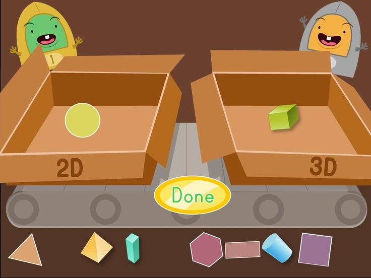 2D and 3D Shapes - Math Game
