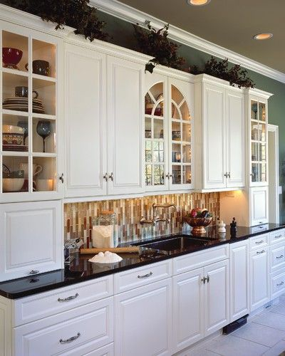 2005 showcase - Kitchen, cool colors, white cabinets, cabinet space