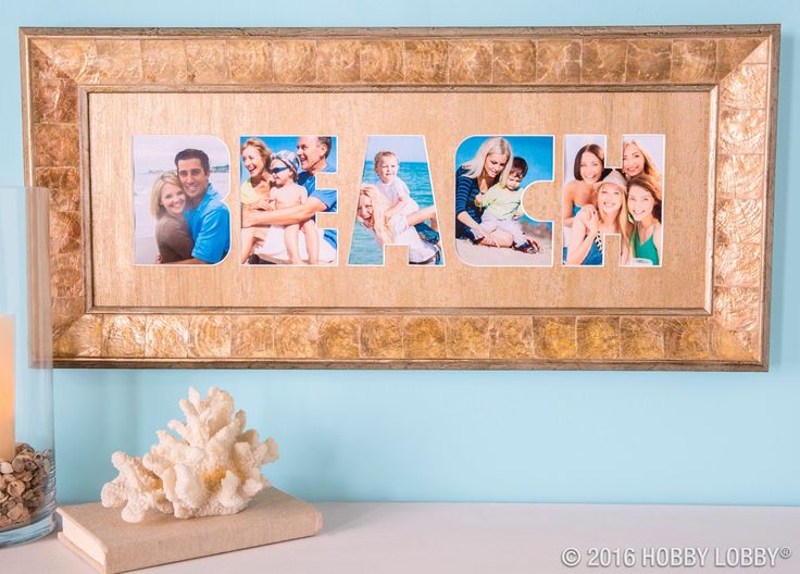 beach nice custom matting from hobby lobby i would like one with my cats in it i have four cats so that is one for each letter custom framing