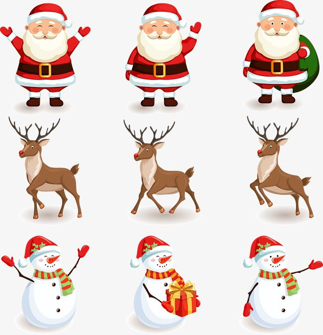 Snowman Clipart Deer Clipart Santa Claus Santa Claus Vector Christmas Vector Christmas Christmas Vector Vector Christ Snowman Clipart Christmas Art Santa Claus