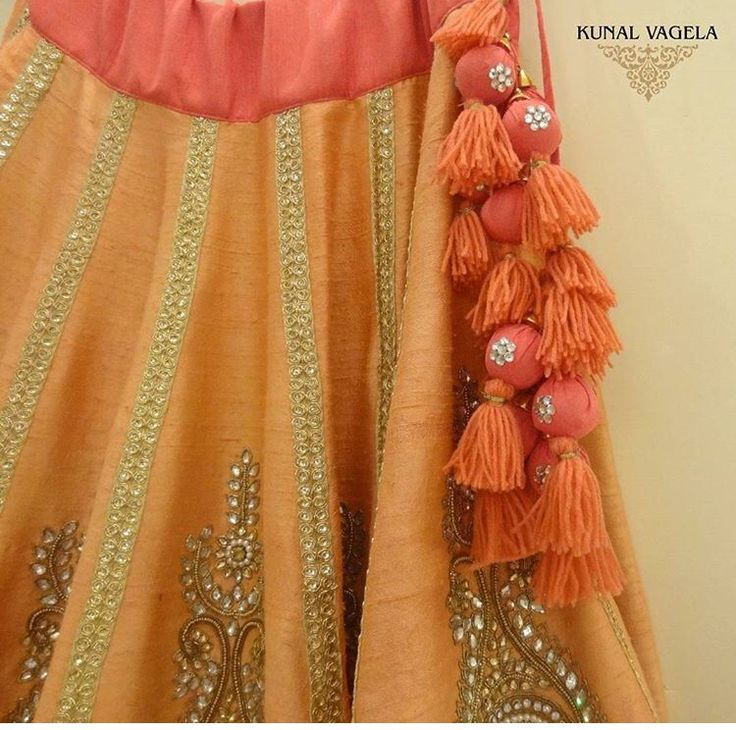 Kunal # detail # tassel # hand work # Indian fusion wear