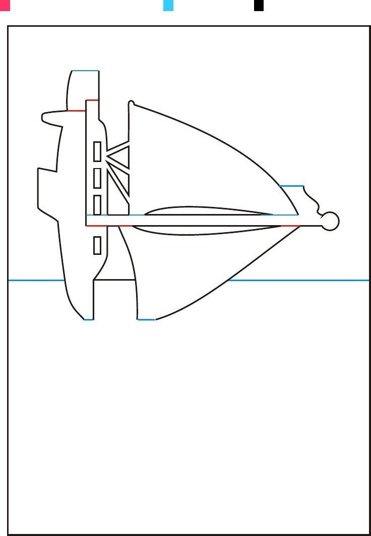 Patrones Avanzados - Origamic Arquitectura Vol 1   Red=cut halfway through, Blue=score, Black=cut through
