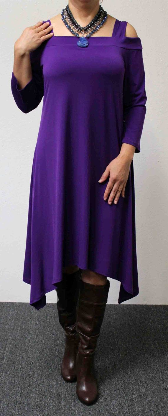 The Classic Travelers Plus size Purple Tunic by Dare2bStylish, $39.00