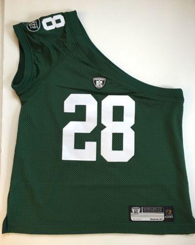 Reebok-New-York-Jets-CURTIS-MARTIN-28-Womens-NFL-Football-One-Shoulder-Jersey