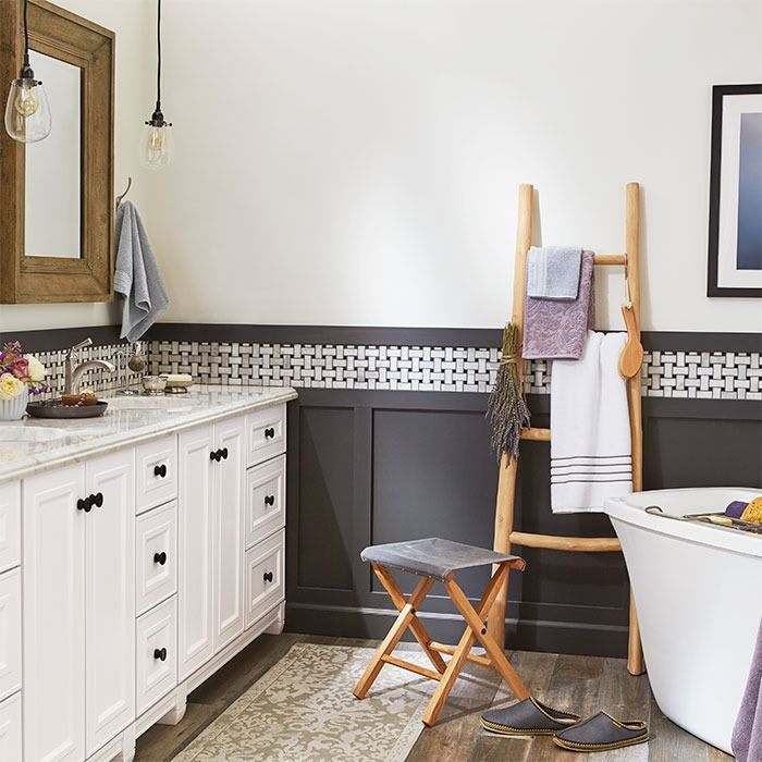 Mix And Match Vanity Modules To Fit Your Space, Style, And Storage Needs.  Save Money And Get A High End Look By Paneling Lower Walls Instead Of Tiling  Them. Part 75