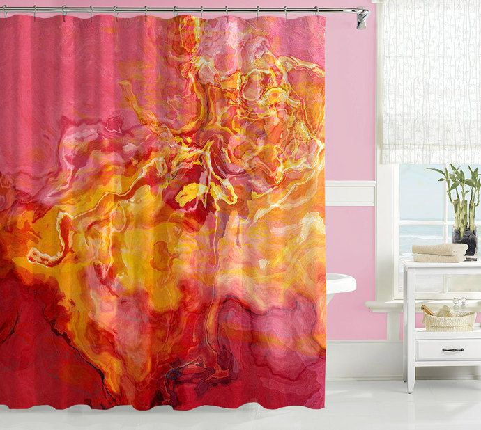 purple and yellow shower curtain. Contemporary shower curtain  abstract art bathroom decor red golden yellow and Zibbet 33 best Bathroom images on Pinterest ideas