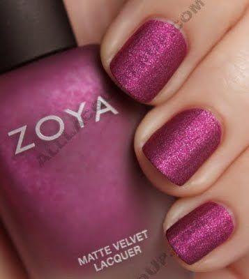 Nails - Zoya's Harlow Matte Velvet Lacquer