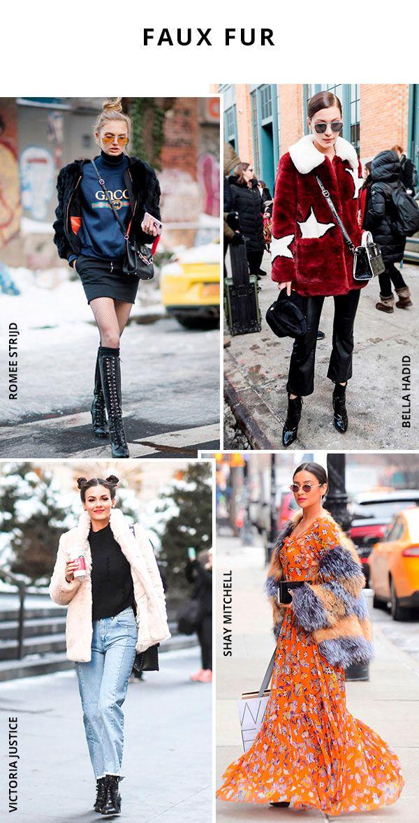 Faux fur coat é uma das peças que não pode faltar no closet de celebs como Shay Mitchell,Romee Strijd, Bella Hadid e Victoria Justice.