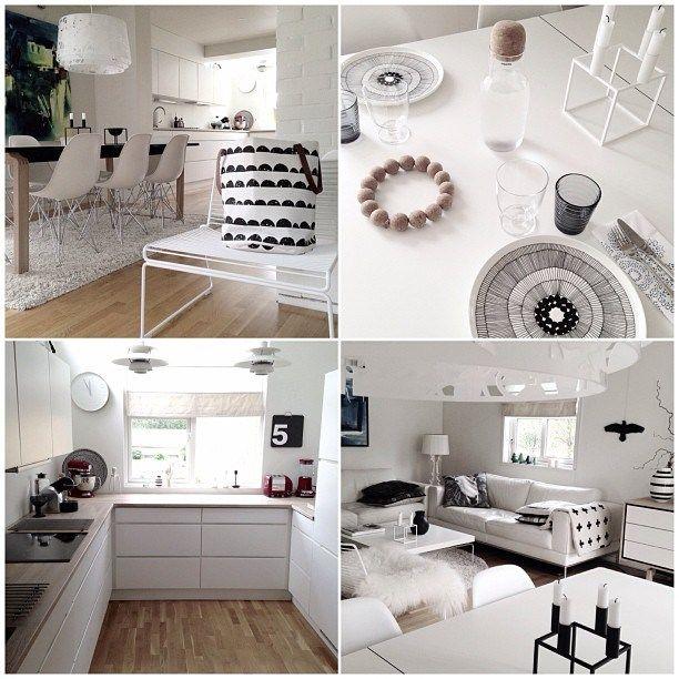 Este jueves quiero mostraros una casa de puro estilo nórdico que descubrí hace unas semanas en Instagram y que me encanta, por su distribución, por el diseño, por la luz y porque las fotos son estu…