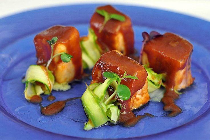 """""""Tacos de bonito con salsa barbacoa"""" de Goizeko Kabi. Foto de www.goizeko-gaztelupe.com"""