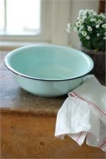 Lots of cute stuff on this site :: Enamelware Basin in Robin's Egg Blue