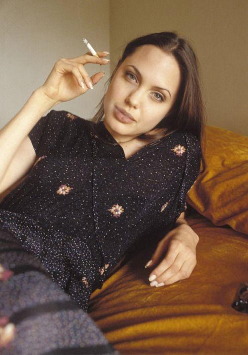 """suicideblonde:  """" Angelina Jolie in 1994  """""""