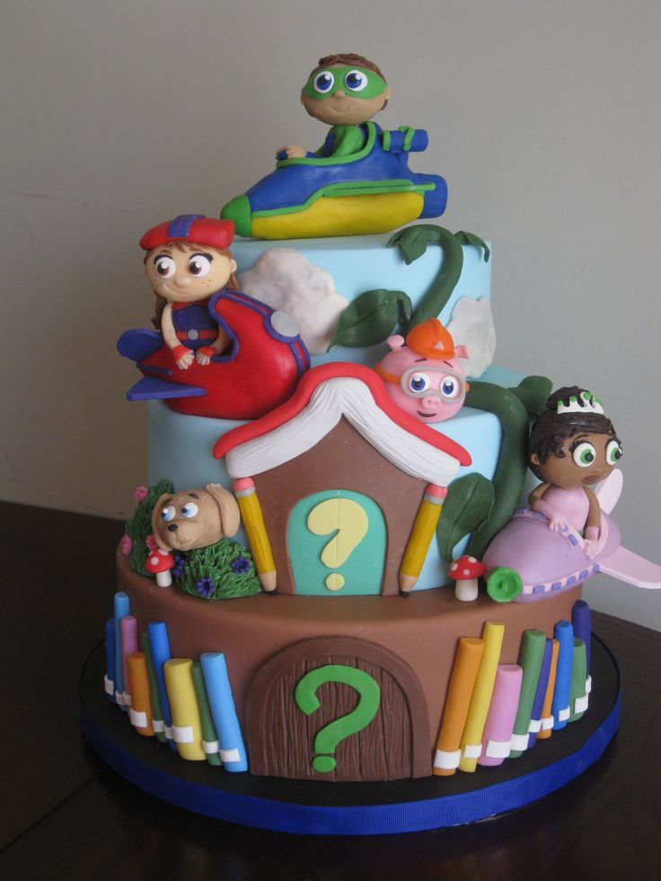 Super Why cake for my daughter's 5th birthday.