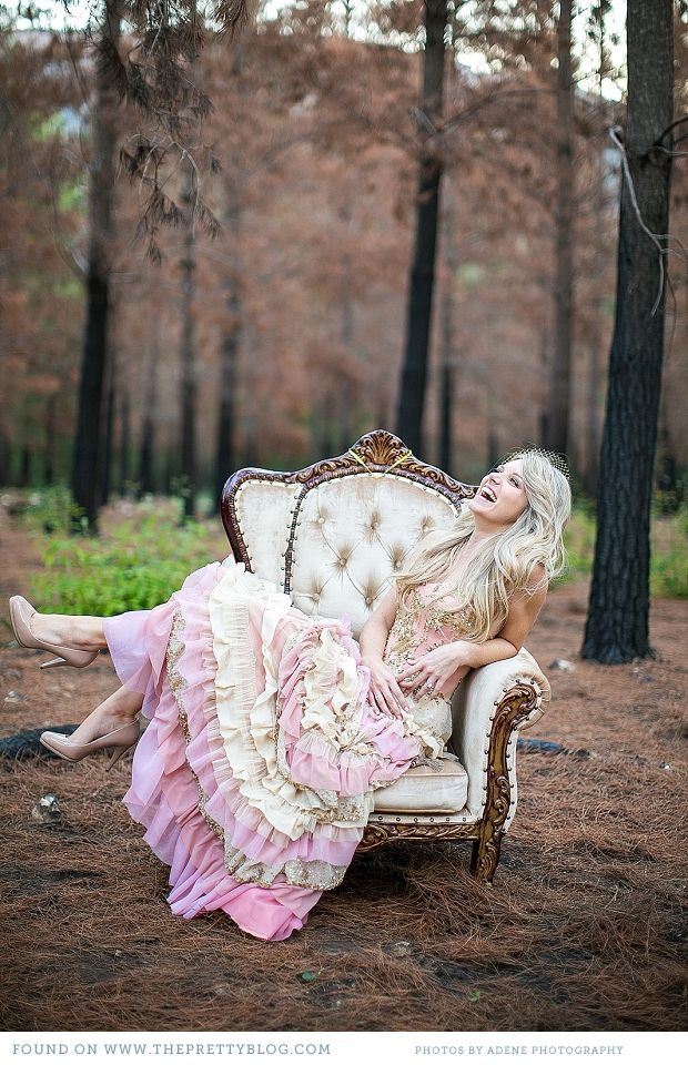She's a lady- pink dress & french chair | Photography: Adene Photography, Dress: Alana Made with Love, Chair: Goeters