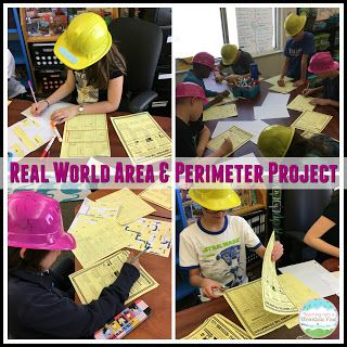 This is my favorite way to wrap up our area and perimeter unit-- an area and perimeter math project! Hands-on, real world, and engaging!