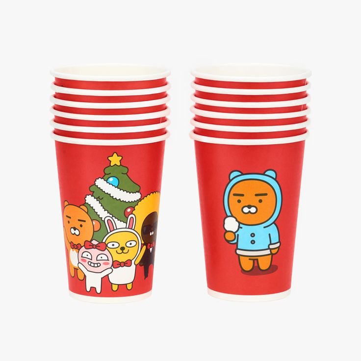 kakao friends paper cups | 6,500won | #ShopandBoxKorea #holidaycollection2016